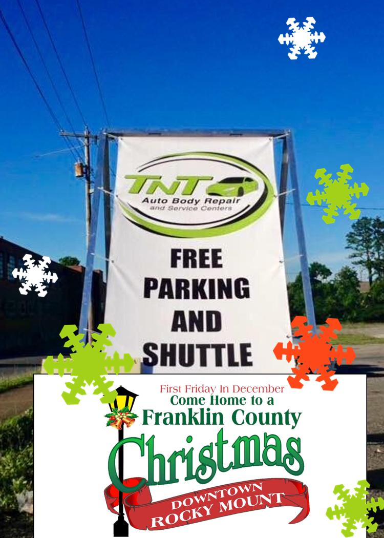 Franklin County Christmas Shuttle Sign